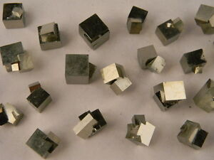 Multi-Cube-100-Natural-PYRITE-Cube-from-Spain-Around-1-4-1-size