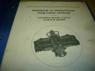 Lycoming O-145-A1 Engine Service Parts Manual