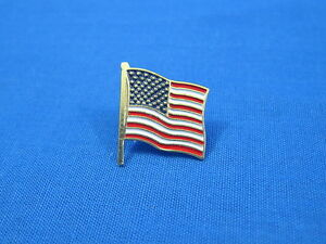 Patriotic - USA - American Flag Pin - Lapel Vest Hat Pin - Tie Tack - FREE SHIP
