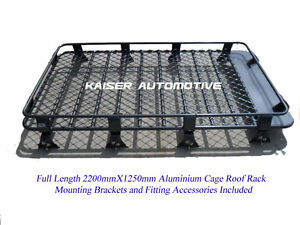 HD-Powder-Coated-Aluminium-Roof-Rack-Cage-for-Nissan-Patrol-GQ-GU-220cm-Length