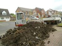 MINI DIGGER AND DRIVER HIRE, SITE AND GARDEN CLEARENCES ????
