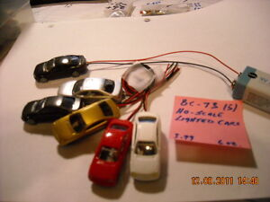 HO-Scale---Interior---Lighted---Cars----in lots of 5---BC-73