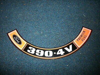1970 1971 Ford Galaxie Xl Custom 500 Country Squire 390 4v Air Cleaner Decal
