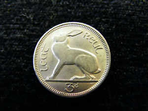 IRELAND: Irish Threepence Coins 3d Hare - You Choose Your Dates - NICE GRADES
