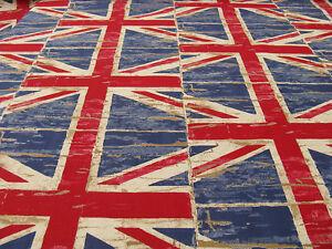 Wachstuch Union Jack Stoff PVC beschichtet beschichteter Stoff mit Englandflagge