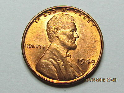 1949 P LINCOLN WHEAT CENT     BU COIN