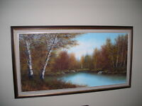 24x48 oil painting by Stevens - Sparrow Lake ...