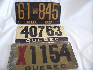"""J'achète vieilles plaques du Qué., """"cennes noires"""",brochures,$$$"""