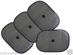 4-PC-Car-Window-Sun-Shade-Shield-Cover-Visor-Foldable-Mesh-Screen-Baby-Ships-USA