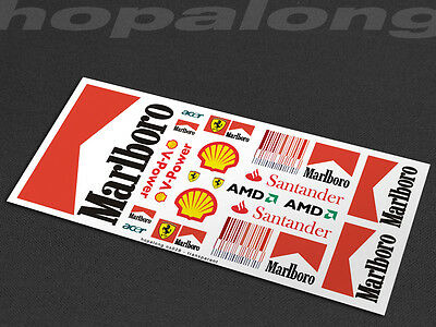 Scalextric/Slot Car 1/32 Waterslide Decals. ns028