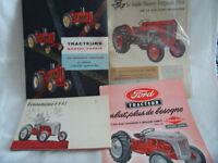 Recherche brochures de tracteurs,machinerie industrielle,