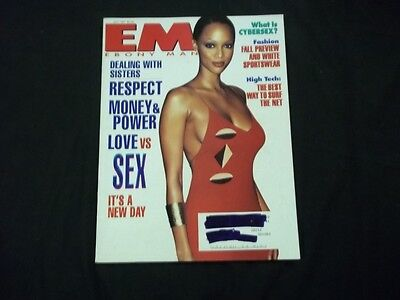 1997 July Ebony Man Magazine   Tyra Banks   Beautiful Front Cover   A1169