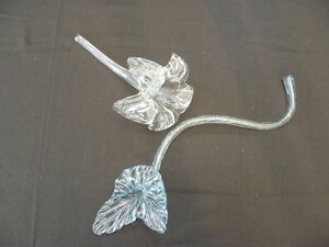 Pair of Glass Flowers
