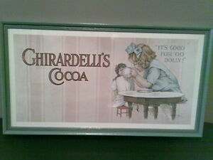 Ghirardelli's Cocoa Framed advertising print