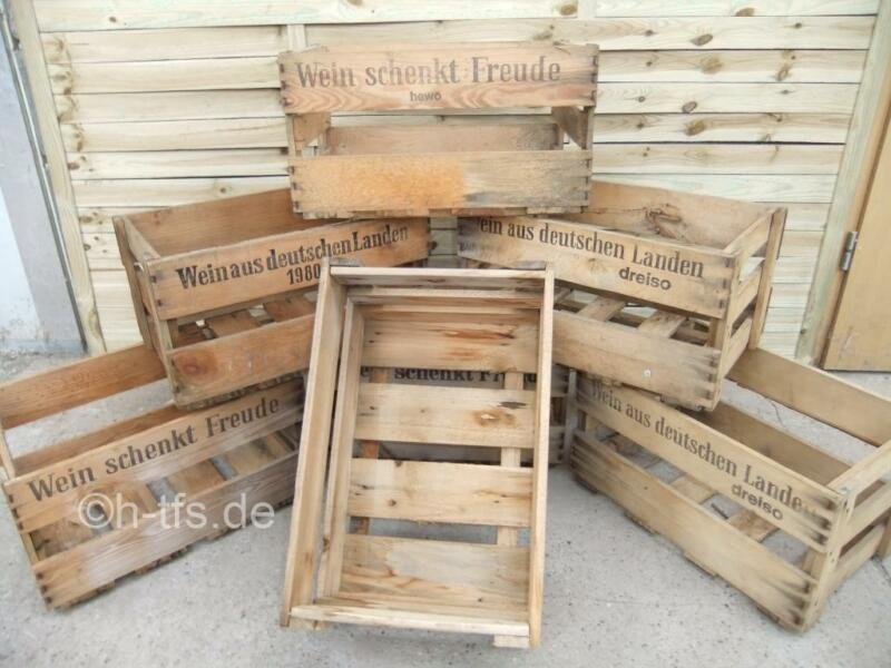 weinkisten weinkiste aus holz holzkiste deko versand m glich in hessen r sselsheim ebay. Black Bedroom Furniture Sets. Home Design Ideas