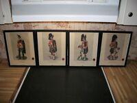 Antique Scottish Highlander Prints