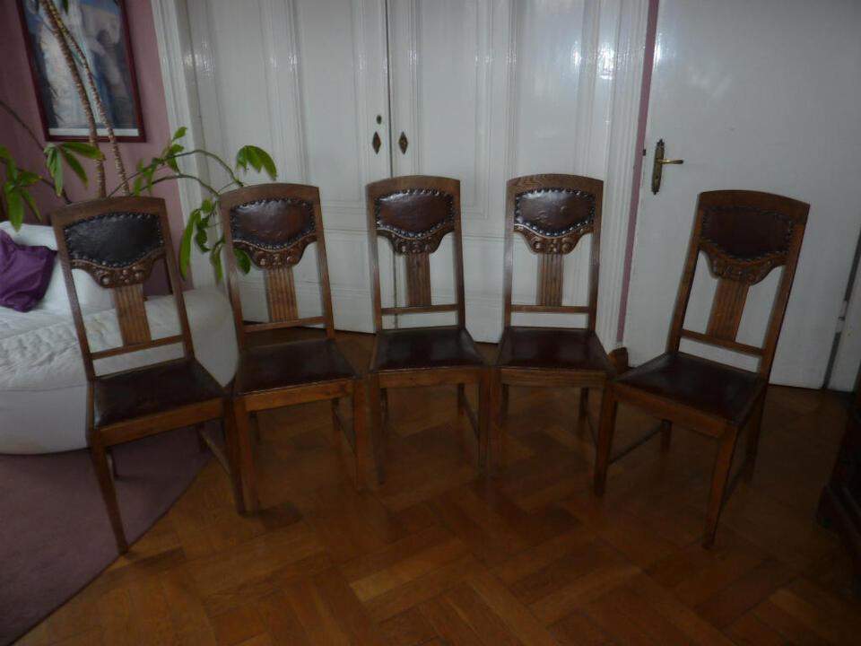 5 Antike Esszimmer Stühle Als Stuhlgruppe In Münster