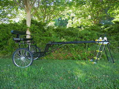 "New Easy Entry Horse Cart-Cob&Full Size W/72""&82""Shaft"