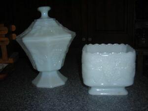 white glass/hob nail /milk glass Belleville Belleville Area image 1