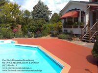 Licensed Concrete Pool Deck Repair, Resurfacing & Restoration