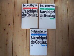 L'ARCHIPEL DU GOULAG d'A. SOLJENITSYNE COMPLET EN 3 VOLUMES