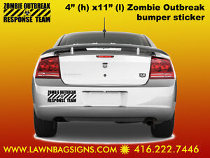 Zombie Outbreak Response Team 4x11 Bumper Vinyl Sticker for $10
