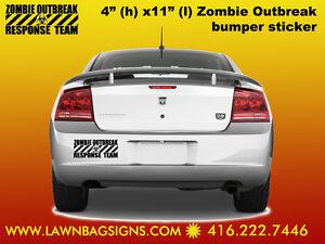 Zombie Outbreak Response Team 4x11 Bumper Vinyl Sticker for $10