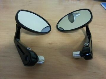 Genuine Triumph Street Triple 2012 Bar End Mirrors - Pair - Black