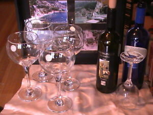 """Crystal Clear"" Turkish Wine Glasses Set (New with Gift too)!"