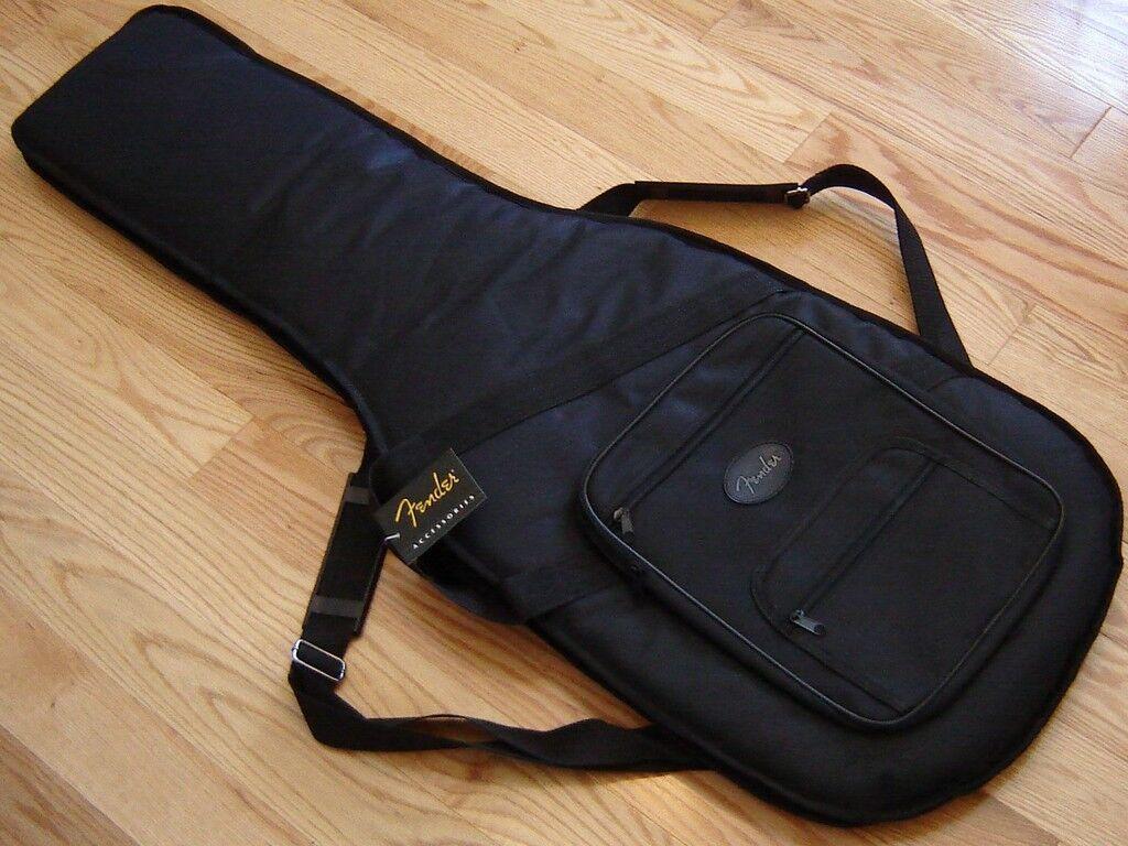 new usa fender strat tele deluxe gig bag case guitar stratocaster telecaster. Black Bedroom Furniture Sets. Home Design Ideas