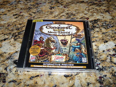 Conquest Of The New World   Preview Windows  Pc   New And Sealed   Mint