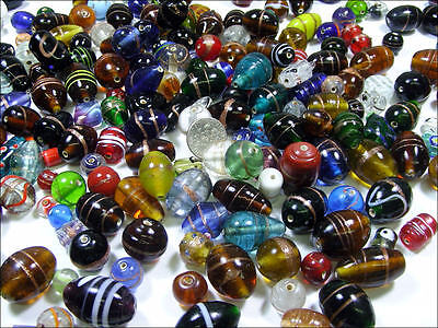 Close Out Lot Wholesale 1 Lb Mixed India Beads  Bd 533