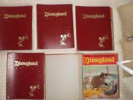 vintage disneyland comics in original hard backed folders
