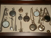 Old Pocket watches & old mech. wrist watches,  working or not