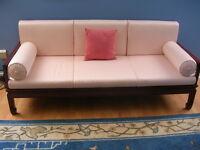 Sofa 3 places ET fauteuil en bois de rose massif