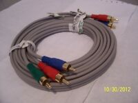 High Def. Component Video Cable RGB Plug To RGB Plug 3M/10FT