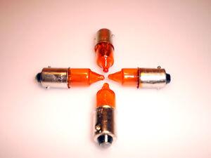 4x set moto mini clignotant ampoules de signal 12v 21w ba9s ambre de base ebay. Black Bedroom Furniture Sets. Home Design Ideas
