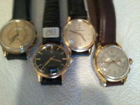 ANTIQUE QUALITY VINTAGE MENS AND LADIES WRIST WATCHES/ 1910-1970