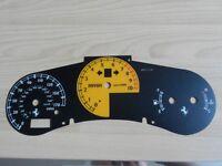 Toyota MR2 Roadster vvti replacement Ferrari speedo dial back, sill plates, door plates for Kit Car
