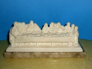 Vintage Marble & Alabaster Statue of The Last Supper
