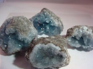 UNSEARCHED NATURAL CELESTITE CRYSTALS - 1000 Carats - Clusters -  Gemstones