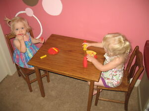 Children's table and chair set - wooden. Custom made for you!
