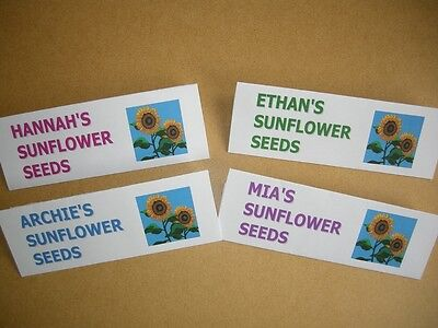 PERSONALISED PACK of 10 SUNFLOWER SEEDS – PERFECT BIRTHDAY / CELEBRATION GIFT