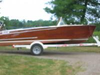 1965 Mahogany boat and motor