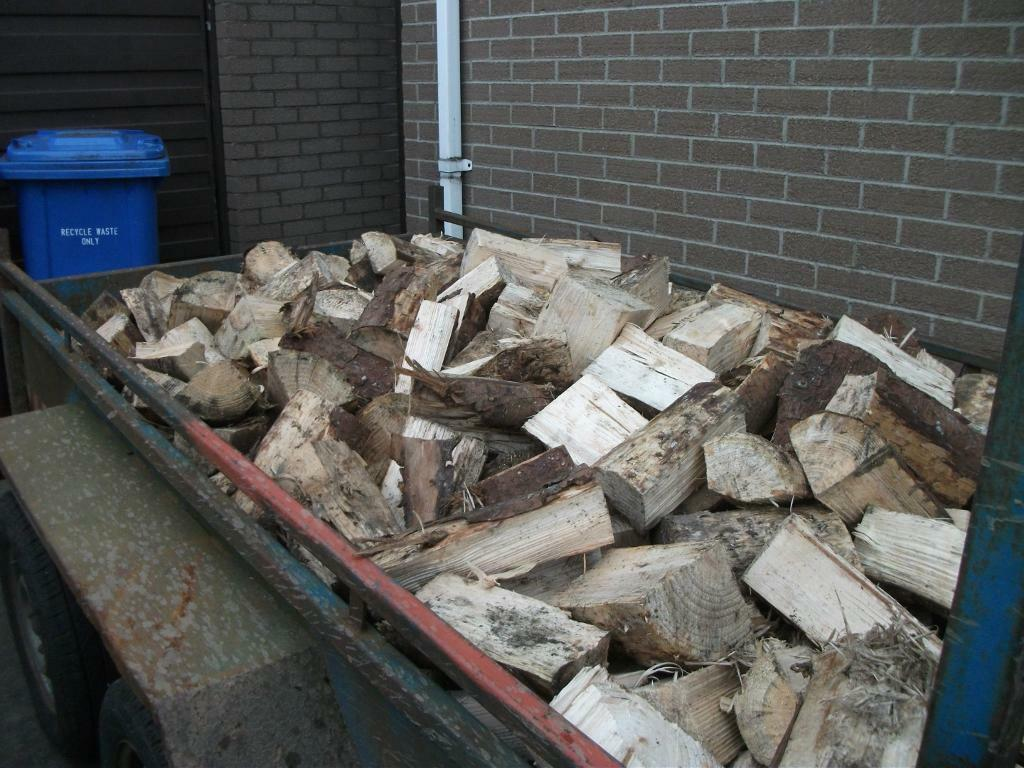 Firewood - Logs - Blocks. Trailer Loads, equivalent to 42-45 bags. Stove, open fire.