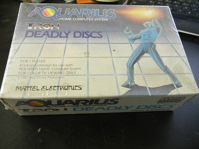 Brand Mattel Aquarius Tron Deadly Discs Game Cartridge