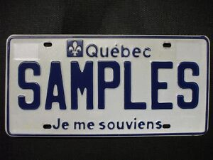 Plaque immatriculation license plate QUEBEC wanted