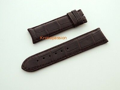 F.P.Journe Dark Brown Alligator Strap 21mm/19mm Short Size New !