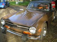 1974 Triumph TR-6 cuir Cabriolet + OD