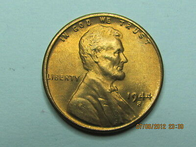 1944 S LINCOLN WHEAT CENT    BU COIN